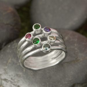 Mothers Birthstone Ring - 6 stone by The Jewelry Girls Place