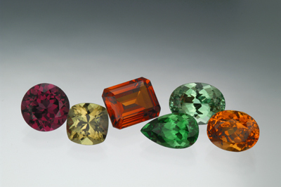 Garnet - various types and colours