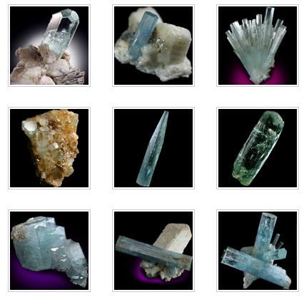 Minerals dot net rough aquamarine images