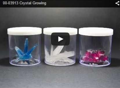 Screenshot of video Growing Crystals
