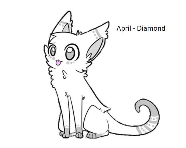 April Birthstone Cat