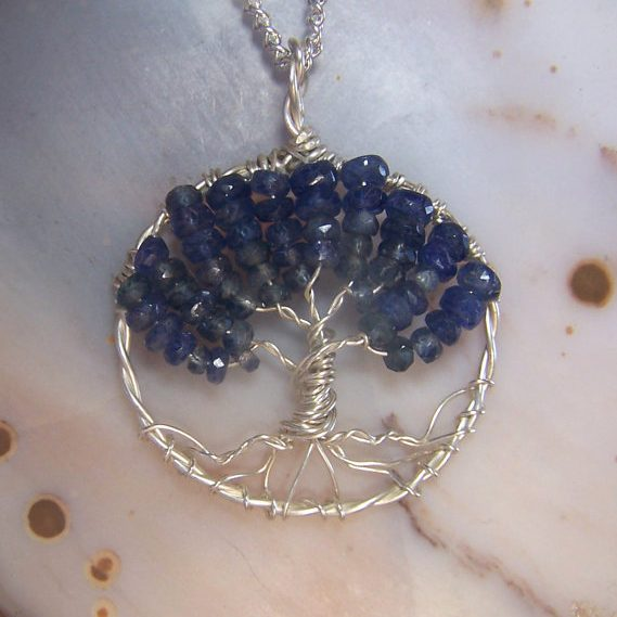 Sapphire Tree of Life necklace
