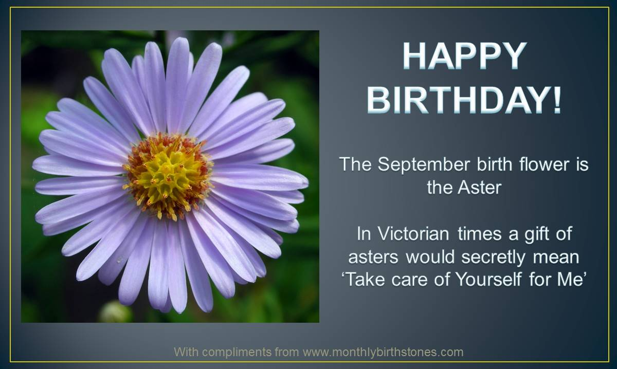 September Birthday Card