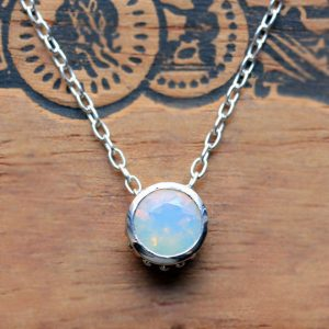 October Birthstone - Ethiopian Opal Necklace