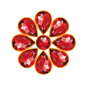 July Birthstones Ruby and Carnelian