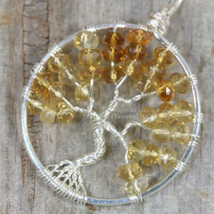 Citrine Tree of Life Pendant by Phoenix Fire Designs