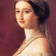 Empress Eugenie with Pearl Tiara and Necklace