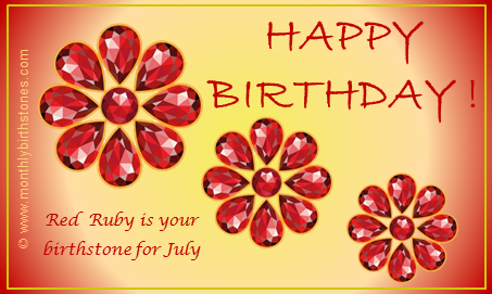 July Birthday ECard Birthstone