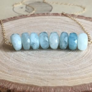 March Birthstone Necklaces - Aquamarine by Catching Wildflowers