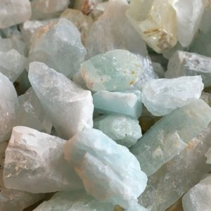 Natural Aquamarine Crystals Catching Wildflowers