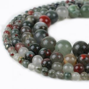 Natural Bloodstone Beads by River Valley Gems