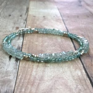March Birthstone Bracelet - Aquamarine By Gems By Kelly