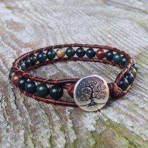 March Birthstone Bracelets - Bloodstone