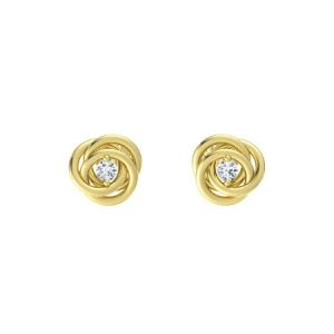 April Birthstone Earrings - Diamond by Gemvara
