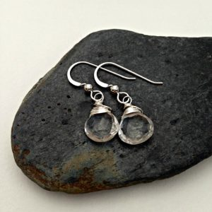April Birthstone Earrings - Quartz by Earth Girl Designs