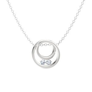 April Birthstone Necklaces - Diamond by Gemvara