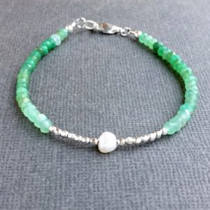 May Birthstone Bracelet - Chrysoprase by Alaska Daisy