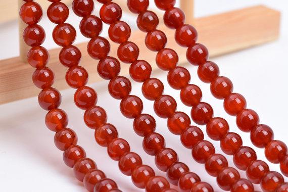 July alternative birthstone - Carnelian beads