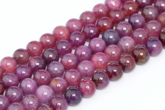 July Birthstone - Ruby Beads