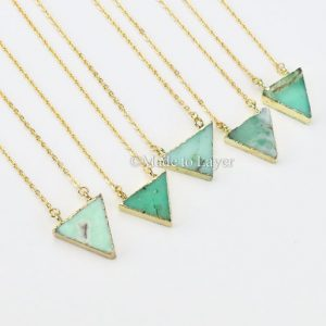 May Birthstone Necklace - Chrysoprase by Made to Layer
