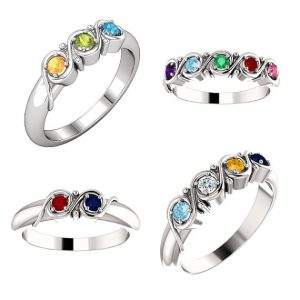 Mothers Birthstone Rings - 2 to 5 stone by Sparkle n Jade