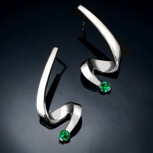 May Birthstone Earrings - Lab Emerald by Verbena Place