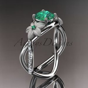 May Birthstone Ring - Emerald by Anjays Designs