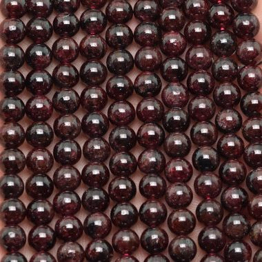 Natural Deep Red Garnet Beads