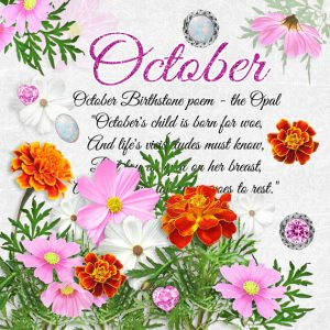 October Birthstone Color and Flower