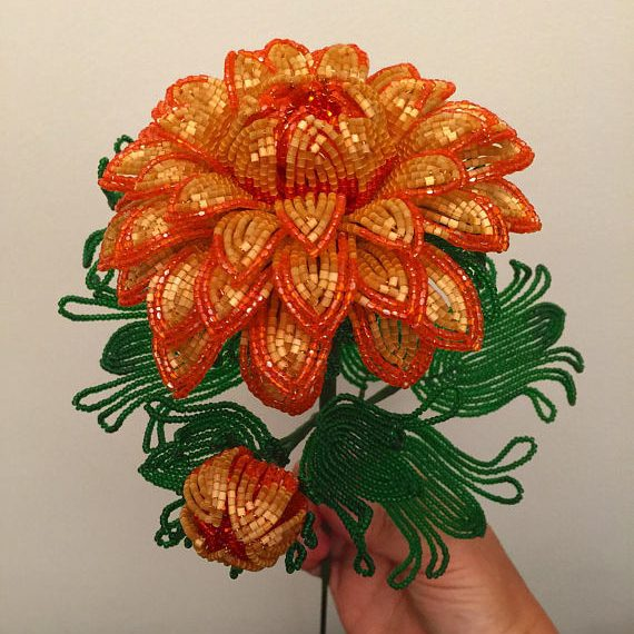 Beaded Chrysanthemum November Flower