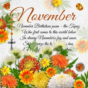 November Birthstone Color and Flower