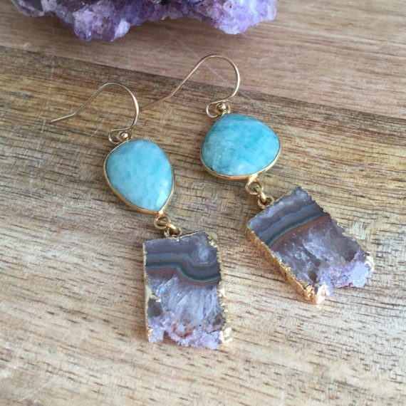 February Birthstone Earrings - Amethsyt