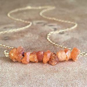 January Birthstone Necklace - Spessartite Garnet