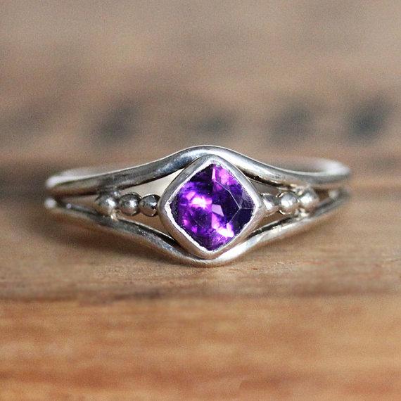 February Birthstone Ring - Amethyst