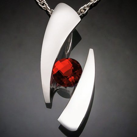 January Birthstone Necklace - Mozambique Garnet