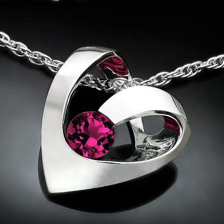 January Birthstone Necklace - Rhodolite Garnet