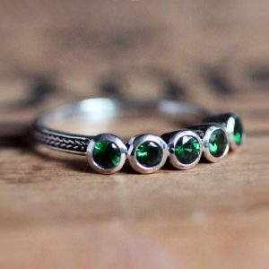 January Birthstone - Tsavorite Garnet Ring