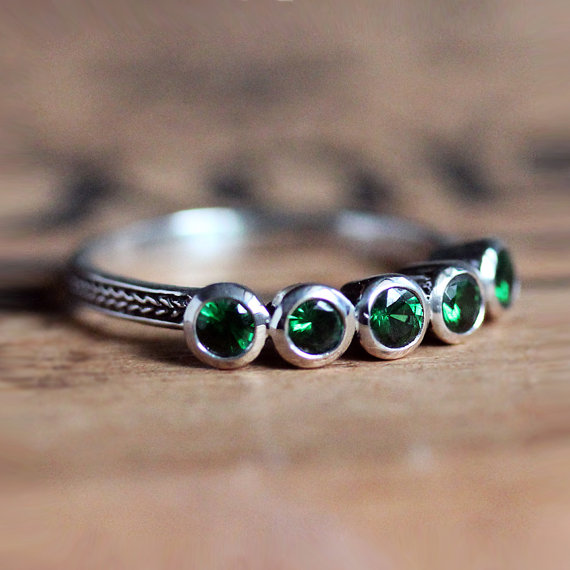 January Birthstone - Tsavorite Garnet Ring