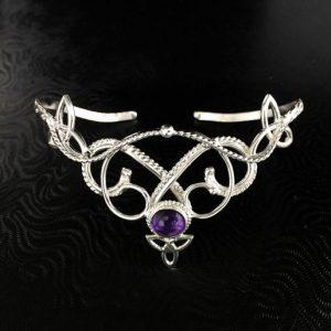 February Birthstone Bracelet - Amethyst Celtic