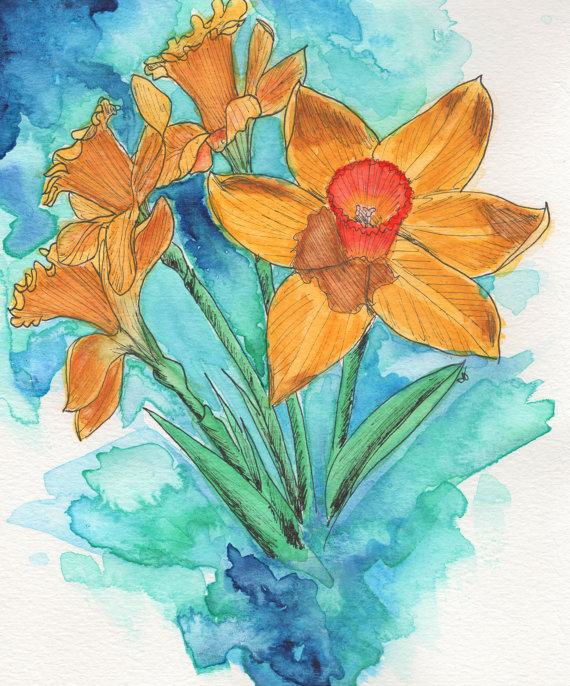 March Birth Flower - Daffodil Greeting Card