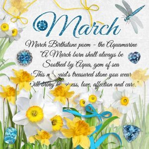 March Birthstone Color and Flower