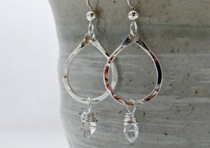 April Birthstone Earrings - Sterling Silver