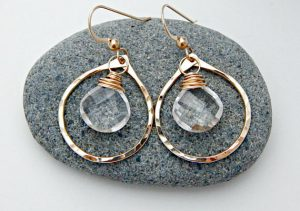April Birthstone Earrings - Yellow Gold Fill
