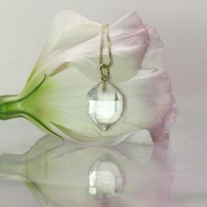 April Birthstone Necklace - Natural Crystal