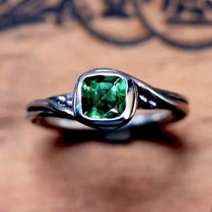 May Birthstone Ring - Chatham Emerald