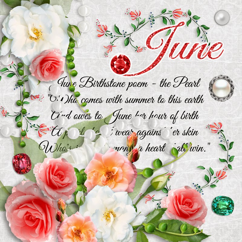 June Birthstone Color and Flower ~ Monthly Birthstones