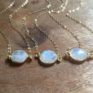 June Birthstone Pendant - Rainbow Moonstone
