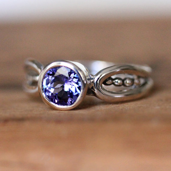 December Birthstone Ring - Purple Tanzanite