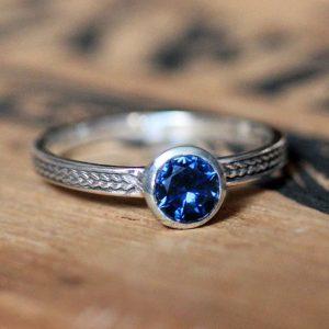 September Birthstone Ring - Blue Sapphire