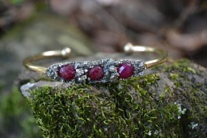 Raw Ruby July Birthstone Bracelet